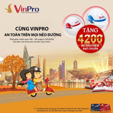 VinPro tang 4.200 mu bao hiem cho chu the VinGroup Card - Anh 1