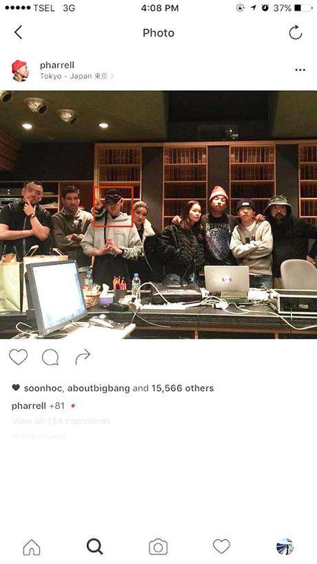 G-Dragon va T.O.P (Big Bang) hop tac voi ong hoang hip-hop My Pharrell Williams - Anh 1