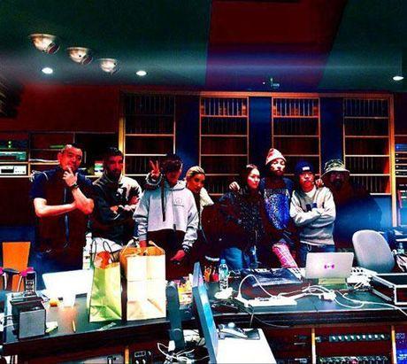 G-Dragon va T.O.P (Big Bang) hop tac voi ong hoang hip-hop My Pharrell Williams - Anh 3