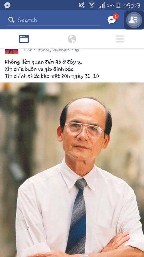 Nghe si Pham Bang dot ngot qua doi sau thoi gian phat benh nang - Anh 2