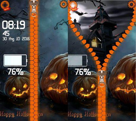 Cach hoa trang smartphone kinh di mua Halloween - Anh 5
