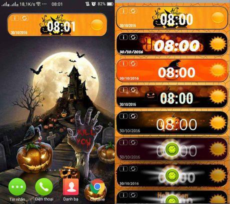 Cach hoa trang smartphone kinh di mua Halloween - Anh 6