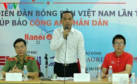 Giai bong ban Ha Noi Open 2016: San choi lon cho cac tay vot nhi dong - Anh 2