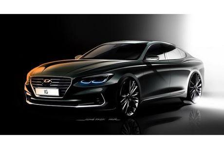 Hyundai he lo sedan hang trung Azera moi 'dau' Lexus ES - Anh 6