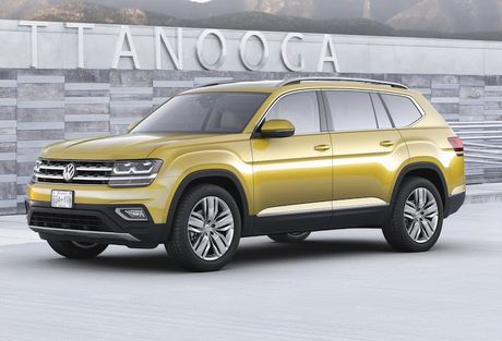 Volkswagen trinh lang crossover 7 cho 'gia mem' Atlas - Anh 1