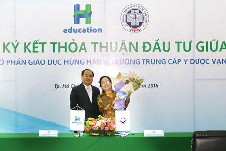 Cong ty CP Giao duc Hung Hau va Truong Trung cap Y duoc Van Hanh hop tac - Anh 1