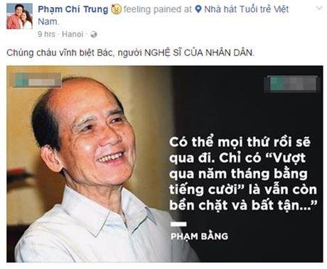 Nghe si Pham Bang qua doi: Sao Viet nghen ngao khoc thuong - Anh 3