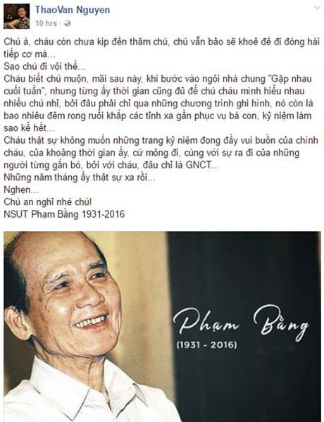 Nghe si Pham Bang qua doi: Sao Viet nghen ngao khoc thuong - Anh 8