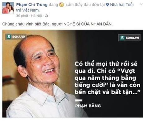 Nghe si Viet bang hoang khi nghe tin NSUT Pham Bang qua doi - Anh 2