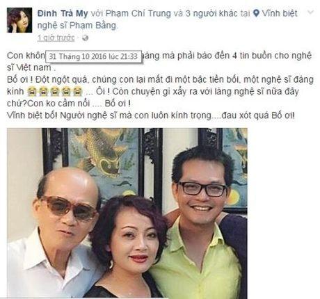 Nghe si Viet bang hoang khi nghe tin NSUT Pham Bang qua doi - Anh 4