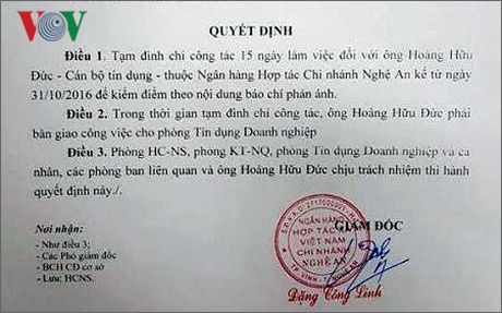 Tam dinh chi cong tac can bo ngan hang danh nu nhan vien ban xang - Anh 1