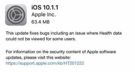 Apple bat ngo tung ra ban iOS 10.1.1 - Anh 1
