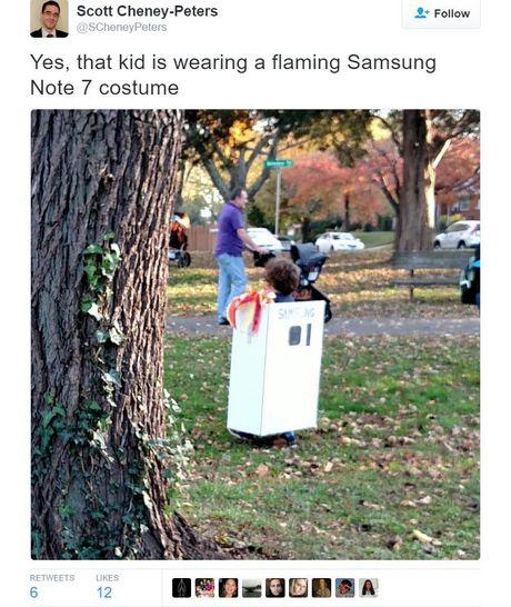 Galaxy Note 7 la bo trang phuc 'hot' nhat dem Halloween hom qua - Anh 2