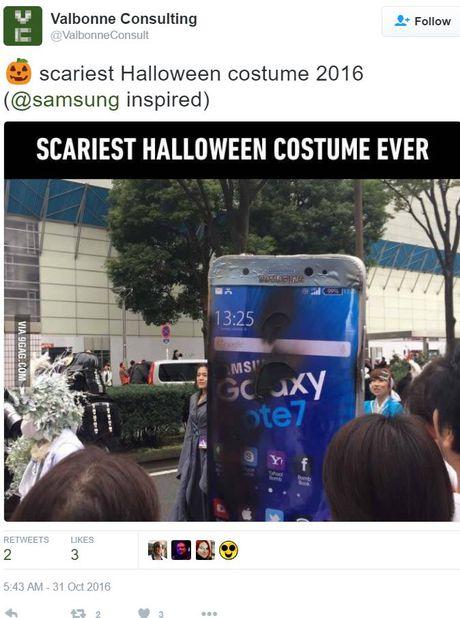 Galaxy Note 7 la bo trang phuc 'hot' nhat dem Halloween hom qua - Anh 5