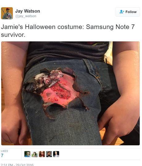 Galaxy Note 7 la bo trang phuc 'hot' nhat dem Halloween hom qua - Anh 6