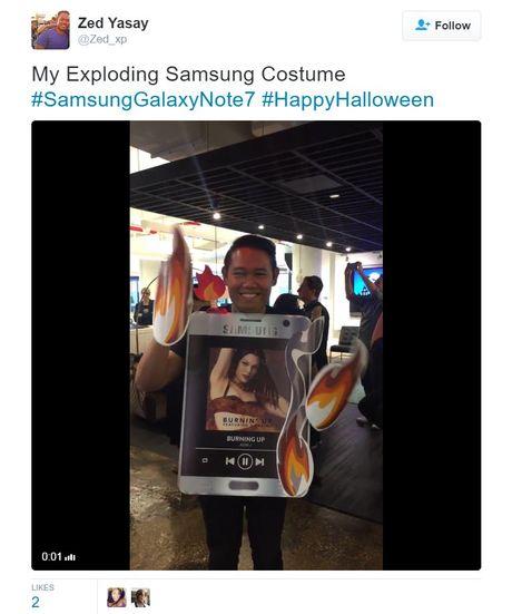 Galaxy Note 7 la bo trang phuc 'hot' nhat dem Halloween hom qua - Anh 7