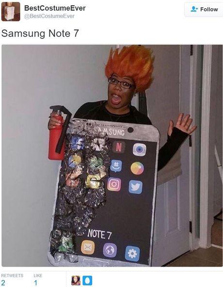 Galaxy Note 7 la bo trang phuc 'hot' nhat dem Halloween hom qua - Anh 8