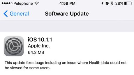 Apple cap toc ra mat ban va loi iOS 10.1.1 - Anh 2