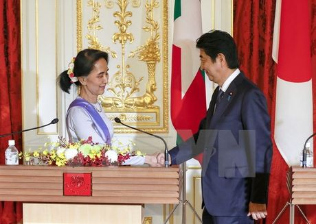 Nhat Ban cam ket vien tro hon 7,7 ty USD cho Myanmar - Anh 1