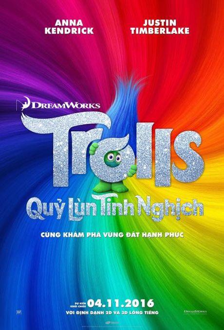 Quy Lun Tinh Nghich - Trolls 2016 tung trailer cuc vui nhon - Anh 1