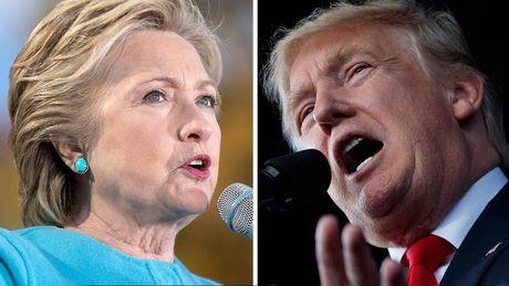 Trump lan dau vuot qua Hillary Clinton ke tu thang 5 - Anh 1