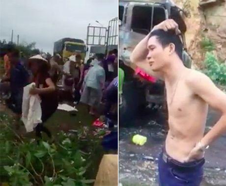 Thong tin chinh thuc vu dan hoi cua tren xe tai chay - Anh 1