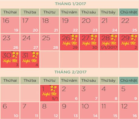 Da co lich nghi Tet Dinh Dau 2017 - Anh 1