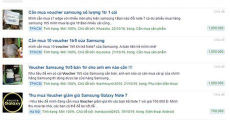 Nhon nhip mua ban voucher 1,5 trieu dong doi tra Note 7 - Anh 1
