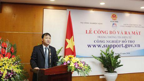 Bo Cong thuong ra mat website ve cong nghiep ho tro - Anh 1