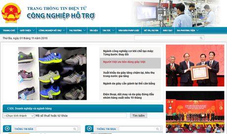 Bo Cong thuong ra mat website ve cong nghiep ho tro - Anh 2