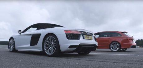 Kinh ngac xe gia dinh danh bai sieu xe Audi R8 - Anh 1