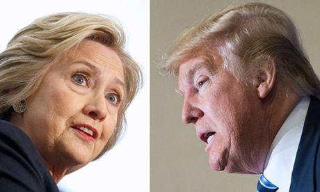 Trump lan dau vuot Clinton trong khao sat ke tu thang 5 - Anh 1