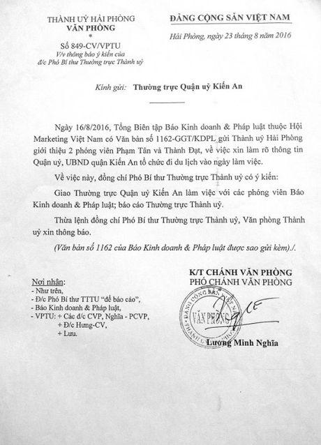 Lanh dao di du lich bo nhiem so: De nghi Thanh uy Hai Phong lam ro - Anh 1