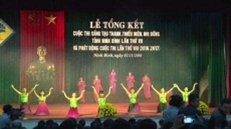 Trao giai Cuoc thi sang tao thanh, thieu nien va nhi dong o tinh Ninh Binh - Anh 1