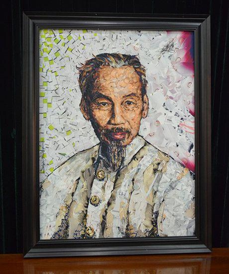Tiep nhan buc chan dung Chu tich Ho Chi Minh - Anh 1