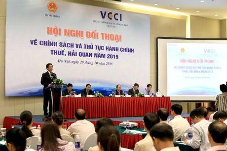 VCCI lui thoi gian to chuc Hoi nghi doi thoai ve cai cach thu tuc hanh chinh thue va hai quan - Anh 1