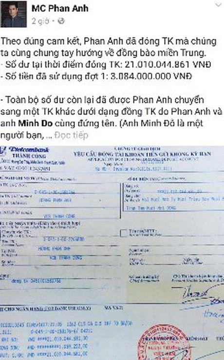 MC Phan Anh cong bo so tien khong the tin noi trong tai khoan - Anh 1