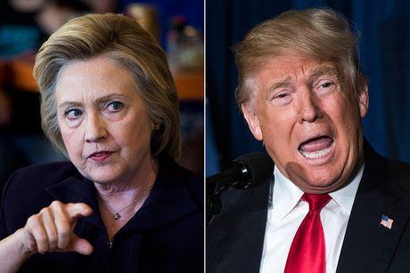 Ty phu Trump lan dau dan truoc ba Clinton ke tu thang 5 - Anh 1