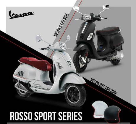Vespa Rosso Sport Series len ke, gia ban hap dan - Anh 4