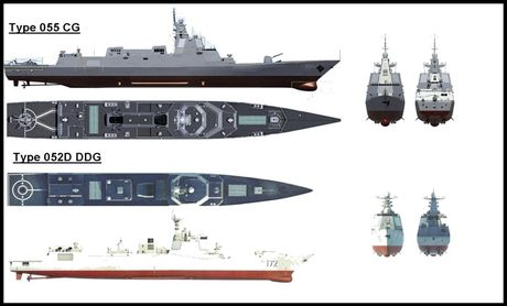 Sieu ham USS Zumwalt My co ha thu duoc tau khu truc 'khung' Type 055 Trung Quoc - Anh 5