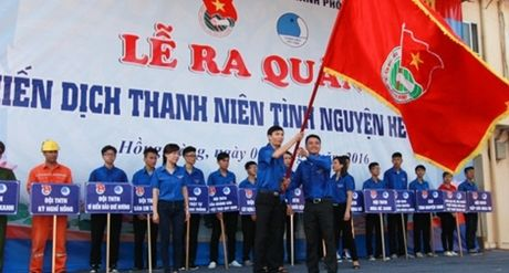 Hoi Lien hiep Thanh nien Viet Nam TP Hai Phong phat dong chien dich Tinh nguyen - Anh 1