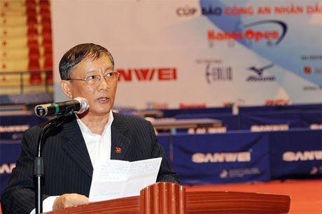 Khai mac Giai vo dich Dien dan bong ban Viet Nam lan thu 10 tranh Cup Bao CAND - Anh 3