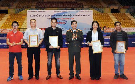 Khai mac Giai vo dich Dien dan bong ban Viet Nam lan thu 10 tranh Cup Bao CAND - Anh 6