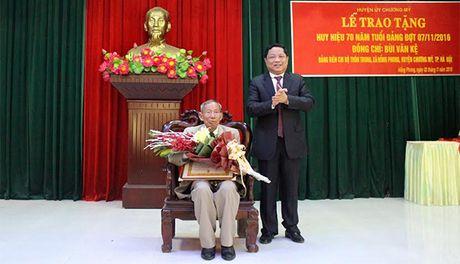 Trao Huy hieu 70 nam tuoi Dang cho dang vien huyen Chuong My - Anh 1