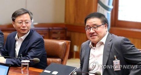 Cuu thu ky cap cao cua Tong thong Han Quoc bi bat giu - Anh 1