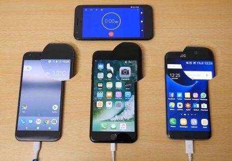 Galaxy S7 Edge va iPhone 7 Plus, ai sac nhanh hon? - Anh 1