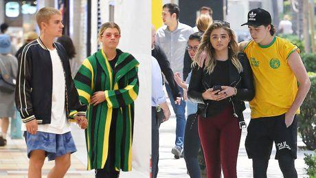 Ro tin con trai Beckham hen ho tinh cu cua Justin Bieber - Anh 1