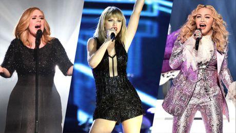 Taylor Swift kiem tien nhieu hon ca Adele va Madonna cong lai - Anh 1