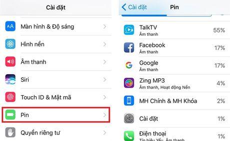 Huong dan khac phuc tinh trang hao pin tren iOS 10 - Anh 2