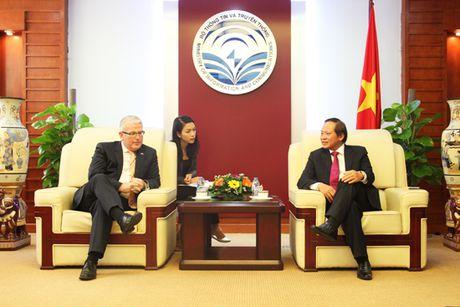 Bo truong Truong Minh Tuan tiep Dai su Australia tai Viet Nam - Anh 1